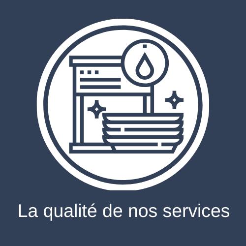 la qualité de nos services