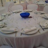 photo table mariage blanc